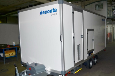 Decontamination container deconta