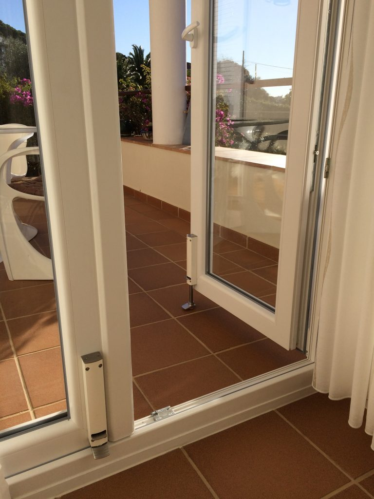 ZE Door holders are available in a variety of travel lengths to accommodate different gaps between the door and ground level.
